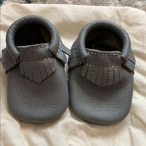 Gray Freshly Picked Moccasins